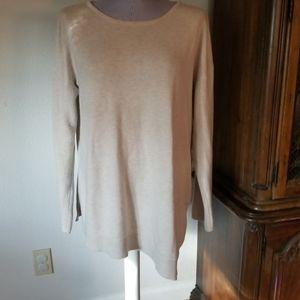 INC A line split side sweater